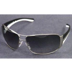 PRADA Aviator Sunglasses in Black/White